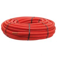 50m Tube PER pré-gainé Rouge