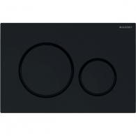 Plaque de déclenchement noir brillant et noir mat Sigma20 pour rinçage double touche - Geberit