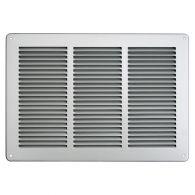 Grille ventilation métal 340x240mm - Couleur aluminium