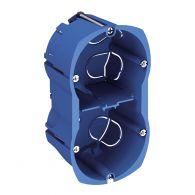 Boîte d'encastrement cloison creuse Ø67x50mm - 2 postes - vertical - ALB71331