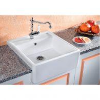 Évier en céramique Panor 60 Blanc cristal - sous-meuble de 60 cm - L 600 x l 630 x P 190 - Blanco