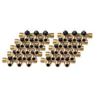 Lot de 10 Collecteurs mini-vanne M/F 3/4