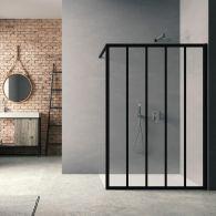 Paroi de douche Loft Classic H200 x L120 cm Noir mat / 3 barrettes