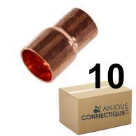 Lot de 10 réductions Cuivre NF Mâle Femelle Ø22-14