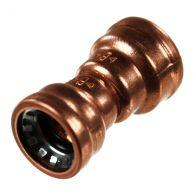 Raccord cuivre Push-Fit à clipser - Réduction FF Ø16-12