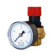 THERMADOR Soupape de sécurité NF 3 bar-120kW+manomètre-Femelle 1/2
