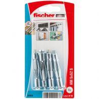 Blister de 4 chevilles métalliques HM pour plaque de plâtre avec vis Ø5x52 mm - Fischer