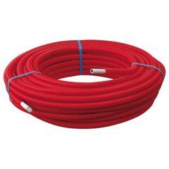 50m Tube Multicouche Ø16x2,0 - Alu 0,20mm - Prégainé Rouge SOMATHERM