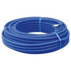 50m Tube Multicouche Ø16x2,0 - Alu 20mm - Prégainé Bleu SOMATHERM