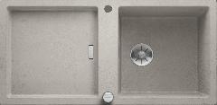 Évier de cuisine Adon XL 6S - Béton style - Sous-meuble 60 cm - 980 x 480 x 190 mm - Blanco