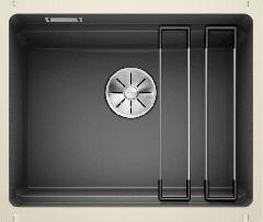 Évier en céramique Etagon 500-U - Sous-meuble de 60 cm - Basalte - 540 x 456 x 200 mm - Vidage manuel - Blanco