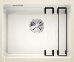 Évier en céramique Etagon 500-U - Sous-meuble de 60 cm - Blanc cristal - 540 x 456 x 200 mm - Vidage manuel - Blanco