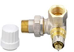 """Corps de robinet RA-IN à Kv réglable, 1/2"""" (15/21) angle à gauche du radiateur"""