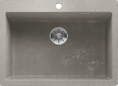 Évier de cuisine Pleon 8 - Béton style - Sous-meuble 80 cm - 700 x 510 x 220 mm - Vidage manuel - Blanco