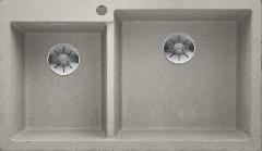 Évier de cuisine Pleon 9 - Béton style - Sous-meuble 90 cm - 860 x 500 x 220 mm - Vidage manuel - Blanco