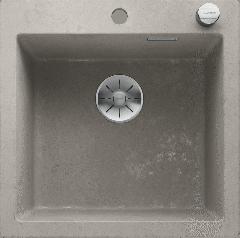 Évier de cuisine Pleon 5 - Béton style - Sous-meuble 50 cm - 515 x 510 x 220 mm - vidage automatique - Blanco