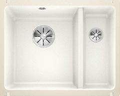 Évier en céramique Subline 350/150-U - Sous-meuble de 60 cm - 567 x 456 x 185/130 mm - Blanc cristal - Vidage manuel - Blanco