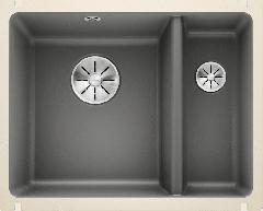 Évier en céramique Subline 350/150-U - Sous-meuble de 60 cm - 567 x 456 x 185/130 mm - Basalte - Vidage manuel - Blanco