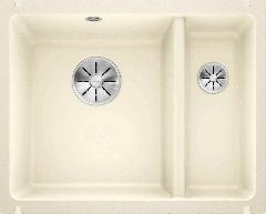Évier en céramique Subline 350/150-U - Sous-meuble de 60 cm - 567 x 456 x 185/130 mm - Magnolia cristal - Vidage manuel - Blanco