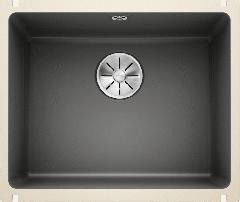 Évier en céramique Subline 500-U - Sous-meuble de 60 cm - 543 x 456 x 185 mm - Basalte - Vidage manuel - Blanco