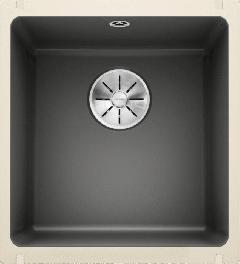 Évier en céramique Subline 375-U - Sous-meuble de 45 cm - 414 x 456 x 185 mm - Basalte - Vidage manuel - Blanco