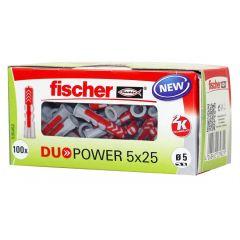 Boîte de 100 chevilles DuoPower Ø5x25mm - Fischer