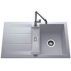 Évier de cuisine aluminium mat GENEA - L  870 x l 510 x P 220 mm - sous-meuble 60 cm - Aquatop