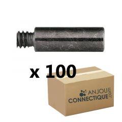 100 rallonges pour patte à vis 7x150 - Mâle Femelle - Longueur 25mm