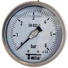 "Manomètre TOUT Inox à bain de glycérine RADIAL Mâle 1/2"" (15/21) - Ø100 - Pression 0 / 6 bars - Sferaco"