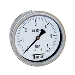 "Manomètre boitier inox à bain de glycérine AXIAL Mâle 1/2"" (15/21) - Ø100 - Pression 0 / 2.5 bars - Sferaco"