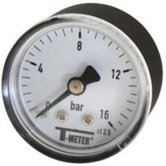 """Manomètre ABS à cadran sec RADIAL Mâle 1/2"""" (15/21) - Ø100 - 0 à 25 bars - Sferaco"""