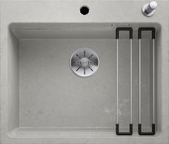 Évier de cuisine Etagon - Béton style - Sous-meuble 60 cm - 600 x 510 x 220 mm - vidage auto + rail - Blanco