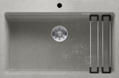 Évier de cuisine Etagon - Béton style - Sous-meuble 80 cm - 780 x 510 x 220 mm - vidage manuel + rail - Blanco