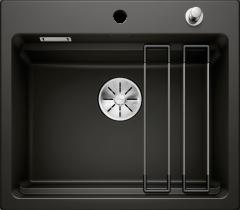 Évier en céramique Etagon 6 - Sous-meuble de 60 cm - Noir - 584 x 510 x 200 mm - Vidage Automatique - Blanco