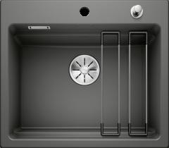 Évier en céramique Etagon 6 - Sous-meuble de 60 cm - Basalte - 584 x 510 x 200 mm - Vidage Automatique - Blanco