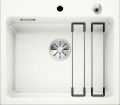 Évier en céramique Etagon 6 - Sous-meuble de 60 cm - Blanc cristal - 584 x 510 x 200 mm - Vidage Automatique - Blanco