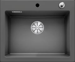 Évier en céramique Palona 6 - Sous-meuble de 60cm - 615 x 510 x 190 mm - Basalte - Vidage automatique - Blanco