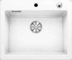 Évier en céramique Palona 6 - Sous-meuble de 60cm - 615 x 510 x 190 mm - Blanc cristal - Vidage automatique - Blanco