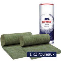 Un paquet de 2 rouleaux laine de verre non revêtue URSA HOMETEC 35 MOB 150mm - 4,58m² - R 4.25