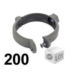Lot de 200 raccords PVC - Colliers bride Ø100 à visser pour fixation de tube PVC Fisrt Plast