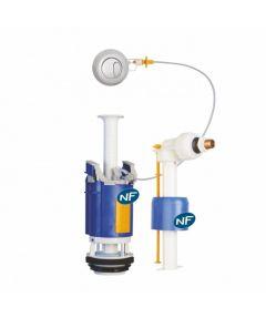 Ensemble NF mécanisme universel à poussoir double débit et robinet flotteur - Regiplast