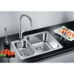 Évier de cuisine en inox Blanco SUPRA 340/180-IF - L 625 x l 400 x P 175/130 mm - sous-meuble 60 cm - Blanco