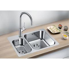 Évier de cuisine en inox Blanco SUPRA 340/180-IF/A - L 555 x l 400 x P 175 mm - sous-meuble 60 cm - Blanco