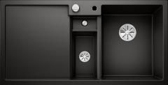 Évier de cuisine Collectis 6S - Noir - sous-meuble 60 cm - L 1000 x l 500 x P 190 mm + Bac de tri - Vidage auto - Blanco