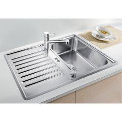 Évier de cuisine en inox Blanco Classic Pro 45 S-IF inox satiné - L 860 x l 510 x P 170m - sous-meuble 45 cm - Blanco