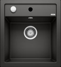 Évier de cuisine Blanco Dalago 45 - Noir - Sous-meuble 45 cm - 465 x 510 x 190 mm - Vidage automatique - Blanco