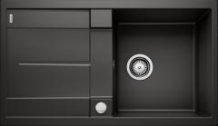 Évier de cuisine Blanco Metra 5 S - Noir - Sous-meuble 50 cm - 860 x 500 x 190 mm - Vidage auto - Blanco