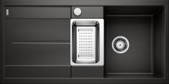 Évier de cuisine Blanco Metra 6 S - Noir - Sous-meuble 60 cm - 1000 x 500 x 190 mm - Vidage auto - Blanco