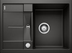 Évier de cuisine Blanco Metra 45 S Compact - Noir - Sous-meuble 45cm - 680 x 500 x 190 mm - Vidage automatique - Blanco