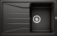 Évier de cuisine Blanco Sona 45 S - Noir - Sous-meuble 45 cm - 780 x 500 x 190 mm - Vidage manuel - Blanco
